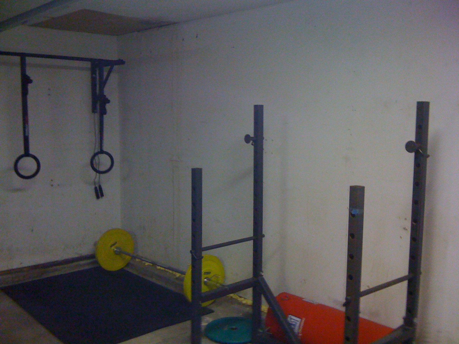 Garage gym meditations in a toolshed